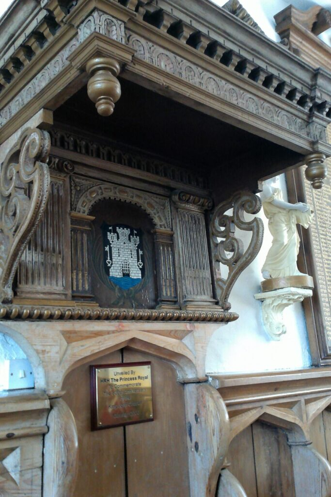 Wooden Canopy over Mayor's Seat in Council Room